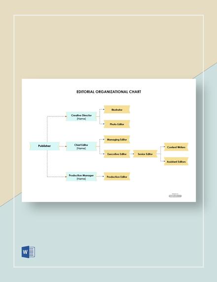 Free Editorial Organizational Chart Template