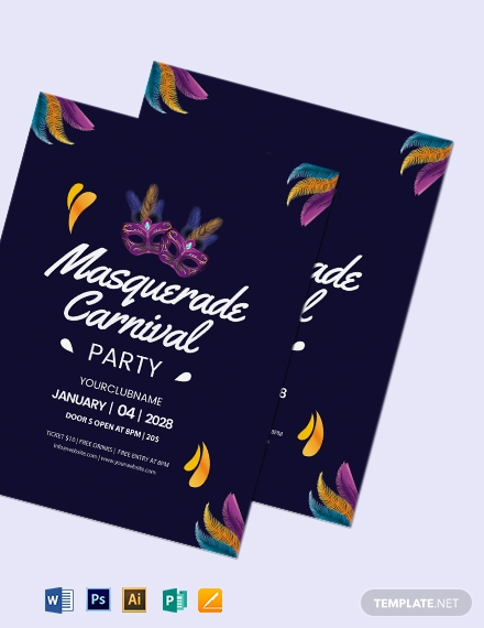 Masquerade Carnival Flyer Template