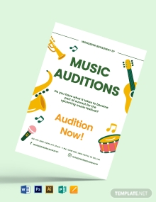 Music Audition Flyer Template