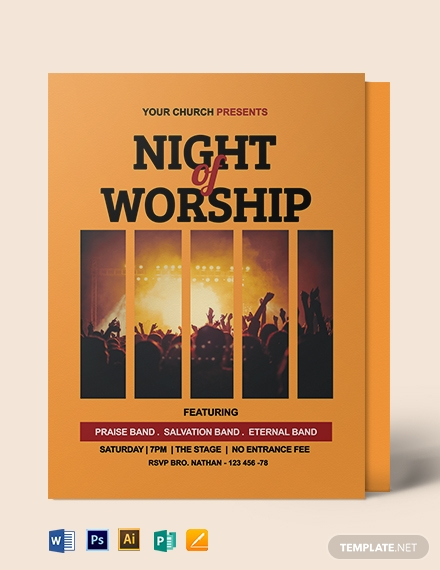 Worship Night Flyer Template