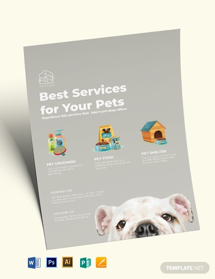 Pet Services Flyer Template
