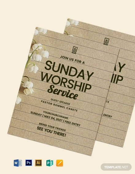 Sample Worship Flyer Template