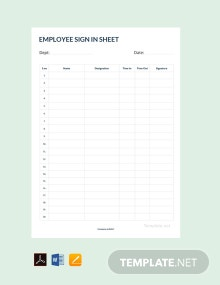 Free Employee Sign In Sheet Template