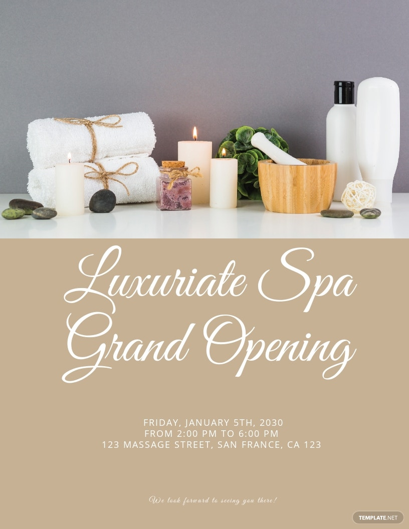 Spa Grand Opening Flyer Template