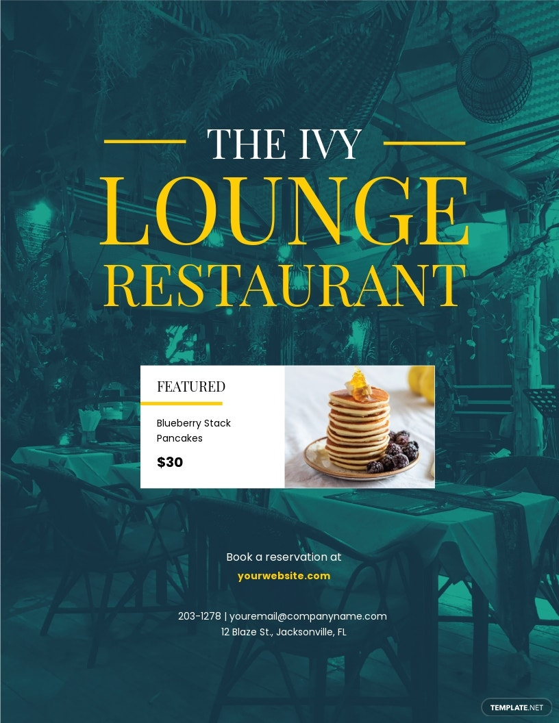 The Ivy Lounge Restaurant Flyer Template