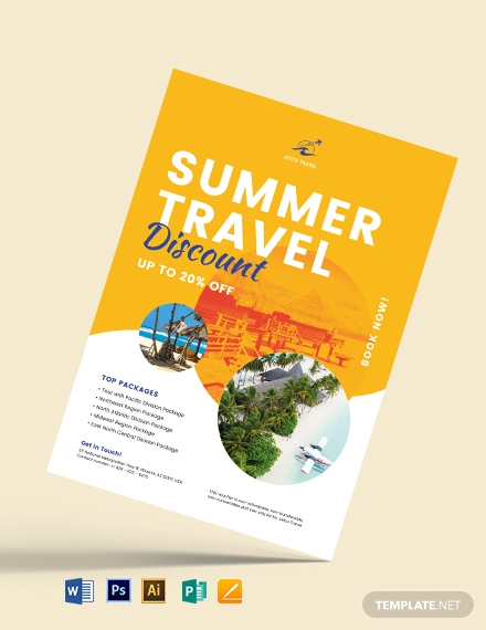 Tour Travel Gift Voucher Flyer Template