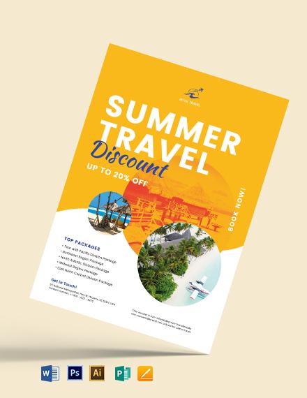Tour Travel Gift Voucher Flyer Template