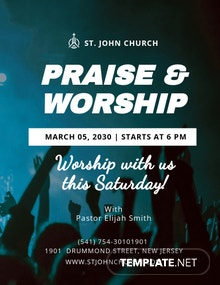 Worship Service Flyer Template