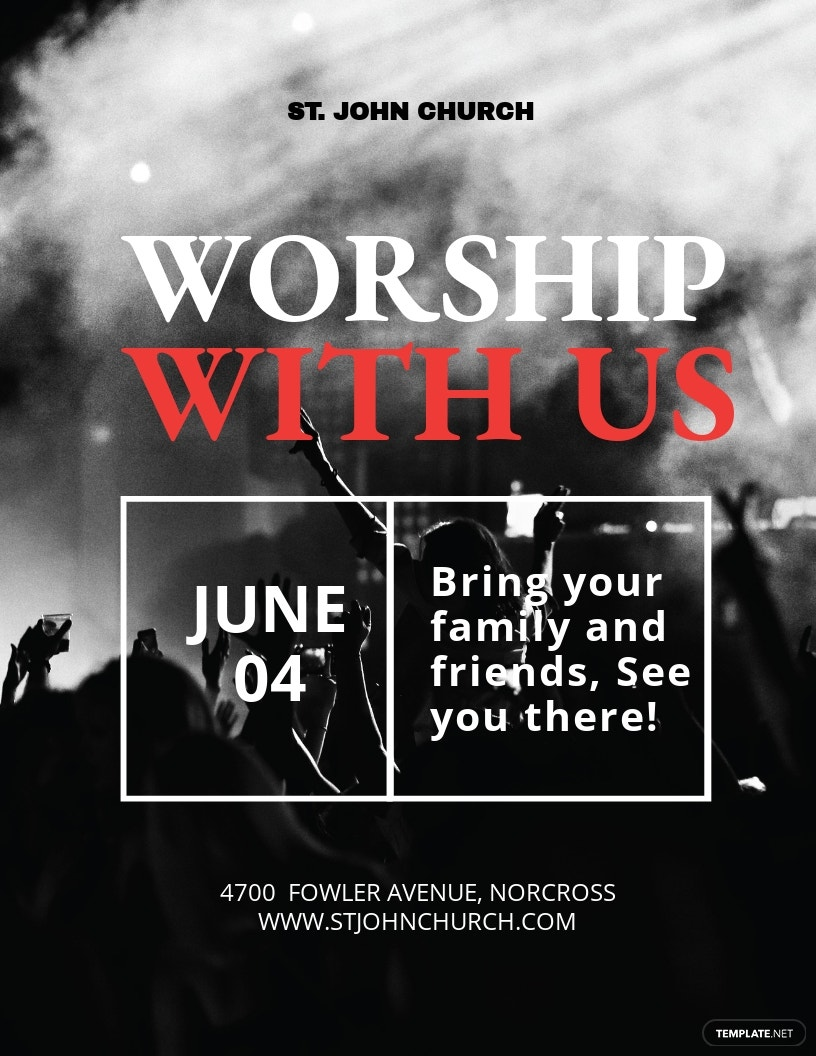 Worship With Us Flyer Template.jpe
