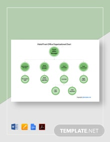 Free Hotel Front Office Organizational Chart Template