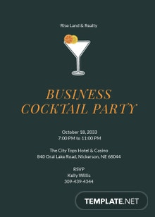 Business Cocktail Invitation Template