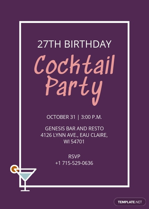 Cocktail Birthday Invitation Template.jpe