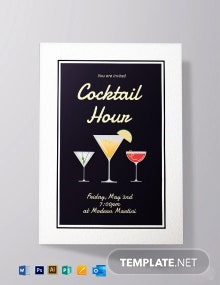 Cocktail Hour Invitation Template