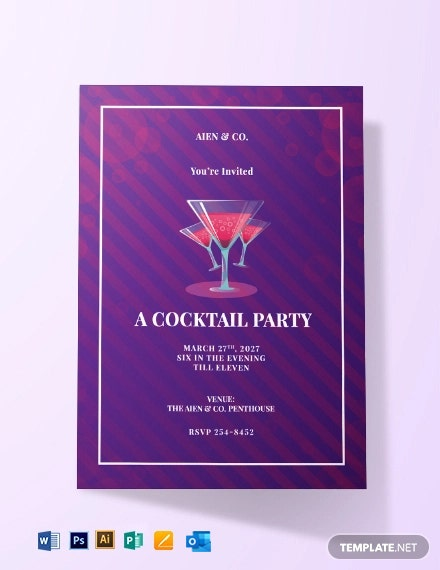 Corporate Cocktail Invitation Template
