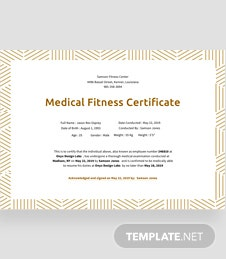 free medical fitness certificate template