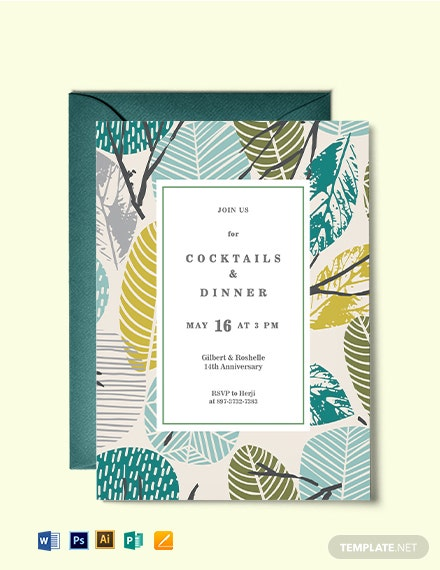 Dinner Cocktail Invitation Template