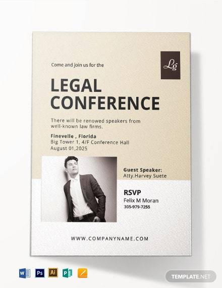 Legal Conference Invitation Template