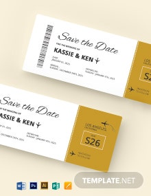 Modern Boarding Pass Invitation Template