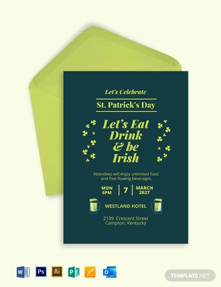 St. Patricks Day Party Invitation Template