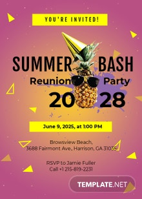 Summer Reunion Invitation Template