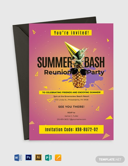 Summer Reunion Invitation Template