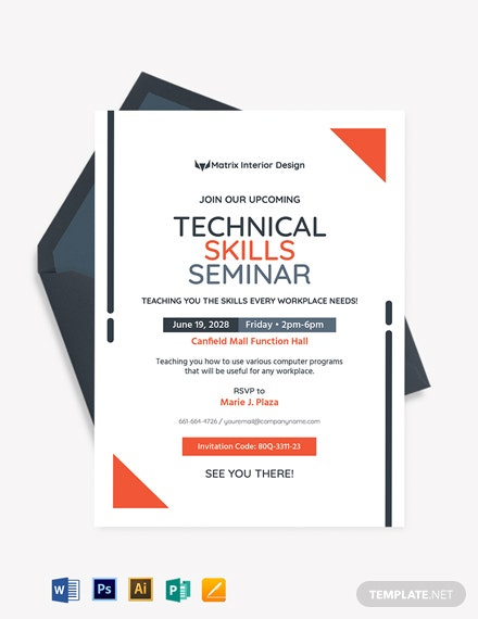 Technical Seminar Invitation Template