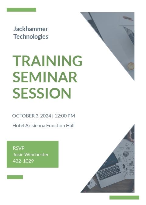 Training Seminar invitation Template
