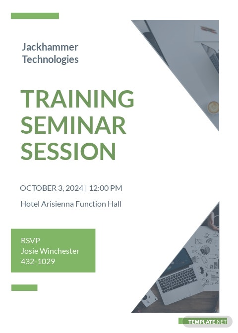 Training Seminar invitation Template [Free JPG] - Illustrator, Word, Apple Pages, PSD, Publisher