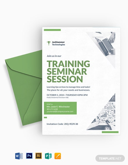 Training Seminar invitation Template