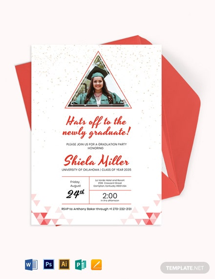 Triangle Graduation Invitation Template