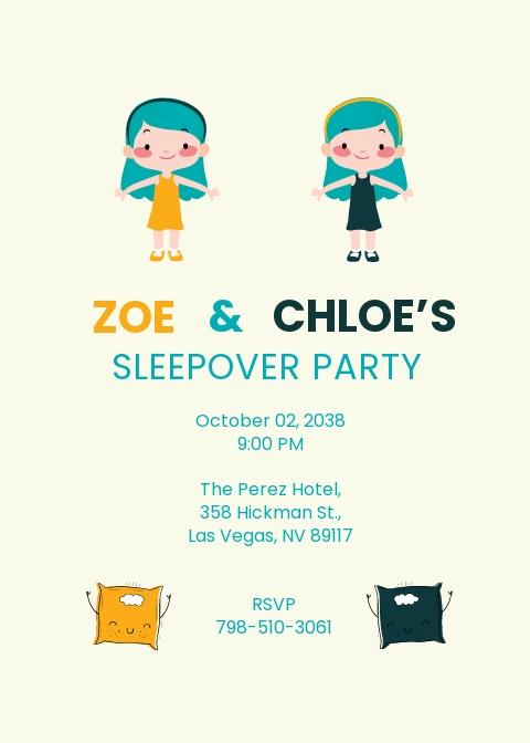 Twin Sleepover Invitation Template.jpe