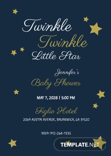 Twinkle Twinkle Baby Shower Invitation Template