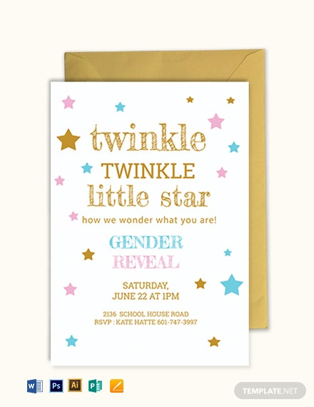 Twinkle Twinkle Little Star Invitation Template