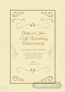Vintage Anniversary Invitation Template