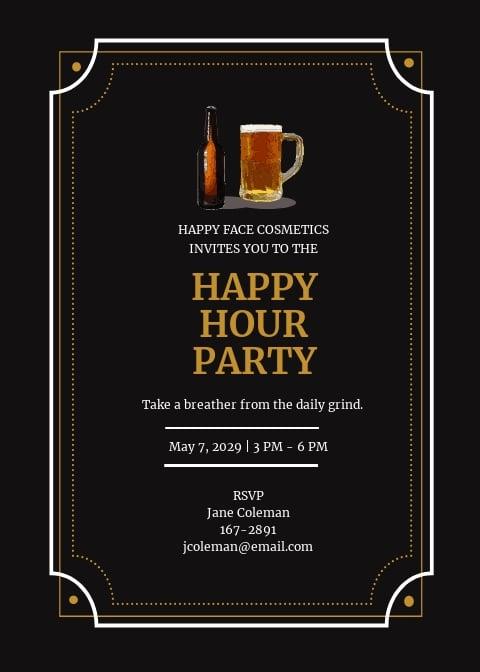 Vintage Happy Hour Invitation Template.jpe