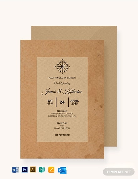 Vintage Journey Fall Wedding Invitation Template