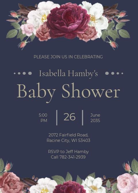 Vintage Roses Shower Invitation Template.jpe