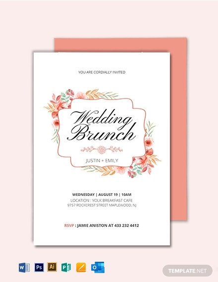 Wedding Brunch Invitation Template