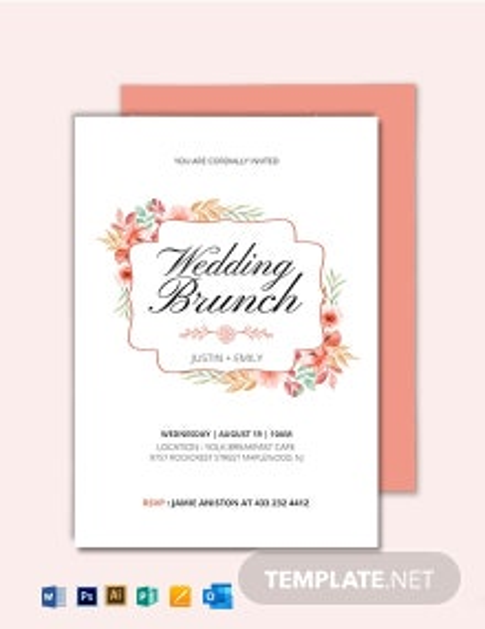 Wedding Brunch Invitation Template