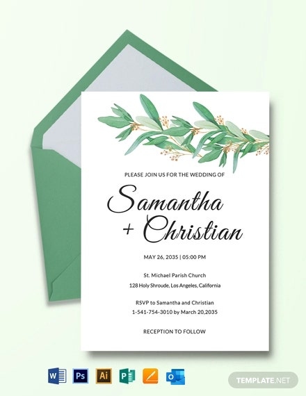 Fall Wedding Invitation RSVP Template
