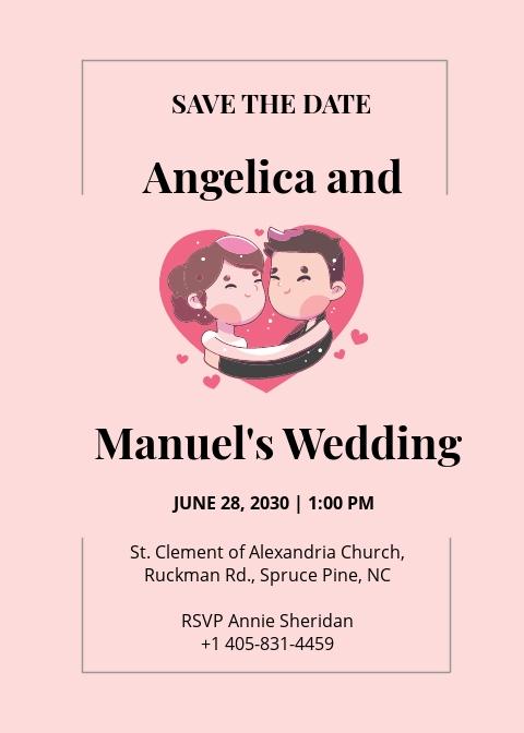 Wedding Mascot Invitation Template