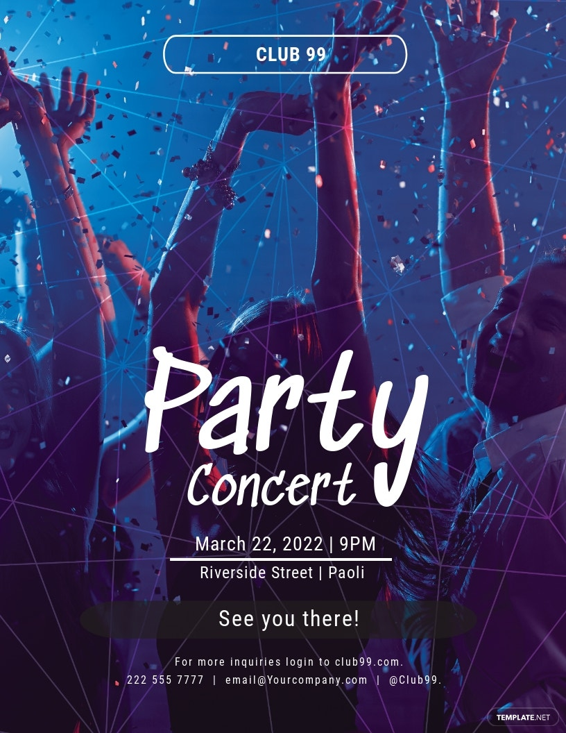Party Concert Flyer Template