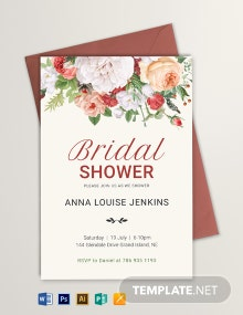 Wildflower Bridal Shower Invitation Template
