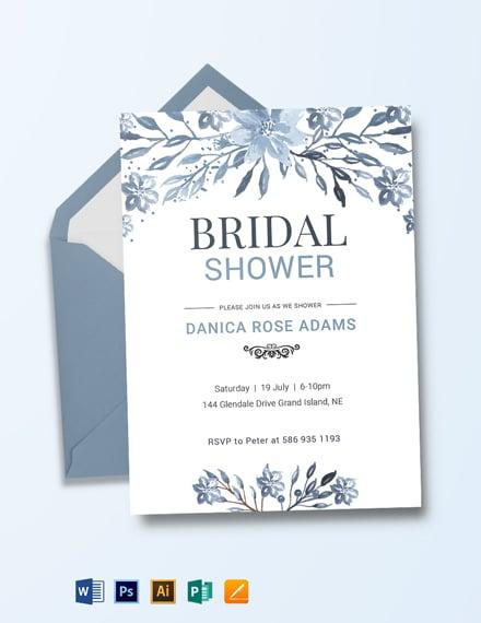 Winter Bridal Shower Invitation Template