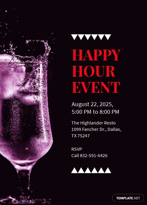 Happy Hour Event Invitation Template