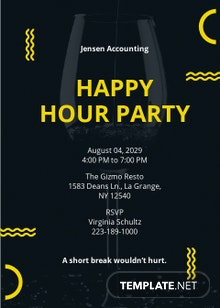 Happy Hour Party Invitation Template