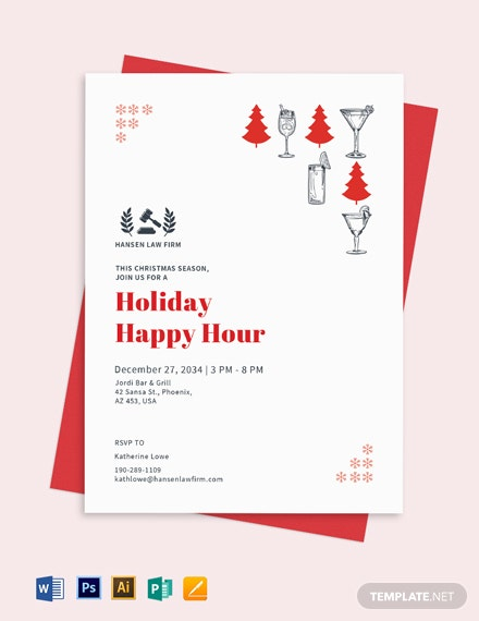 Holiday Happy Hour Invite Template Download 1 1304