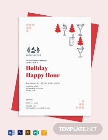 Holiday Happy Hour Invite Template