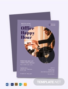 Office Happy Hour Invitation Template