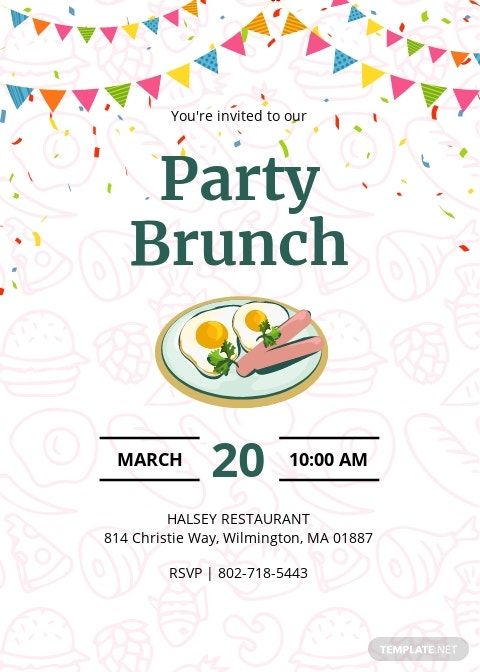 Party Brunch Invitation Template